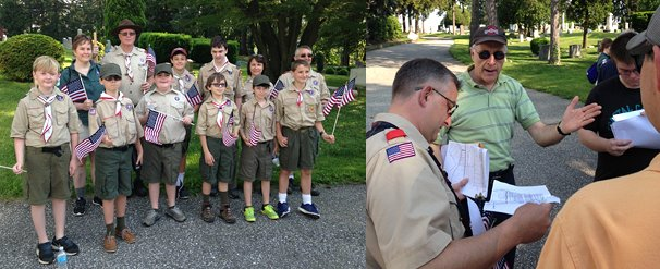 Boy Scouts from Troop 828/Scout Venturing Crew and their adult leaders